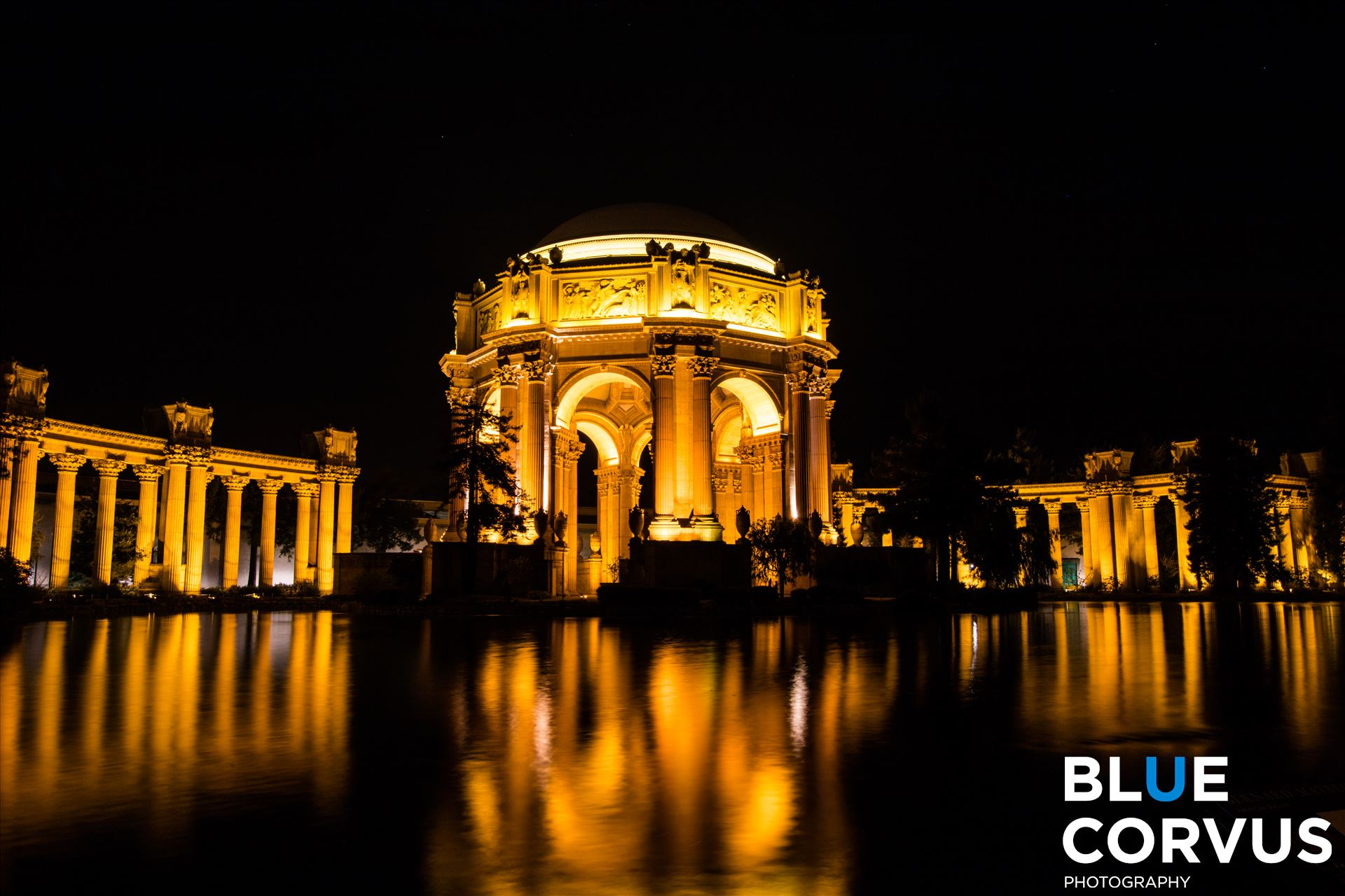 \x22Golden Reflection\x22 - Location: The Palace of Fine Arts in San Francisco, California by Eddie Zamora