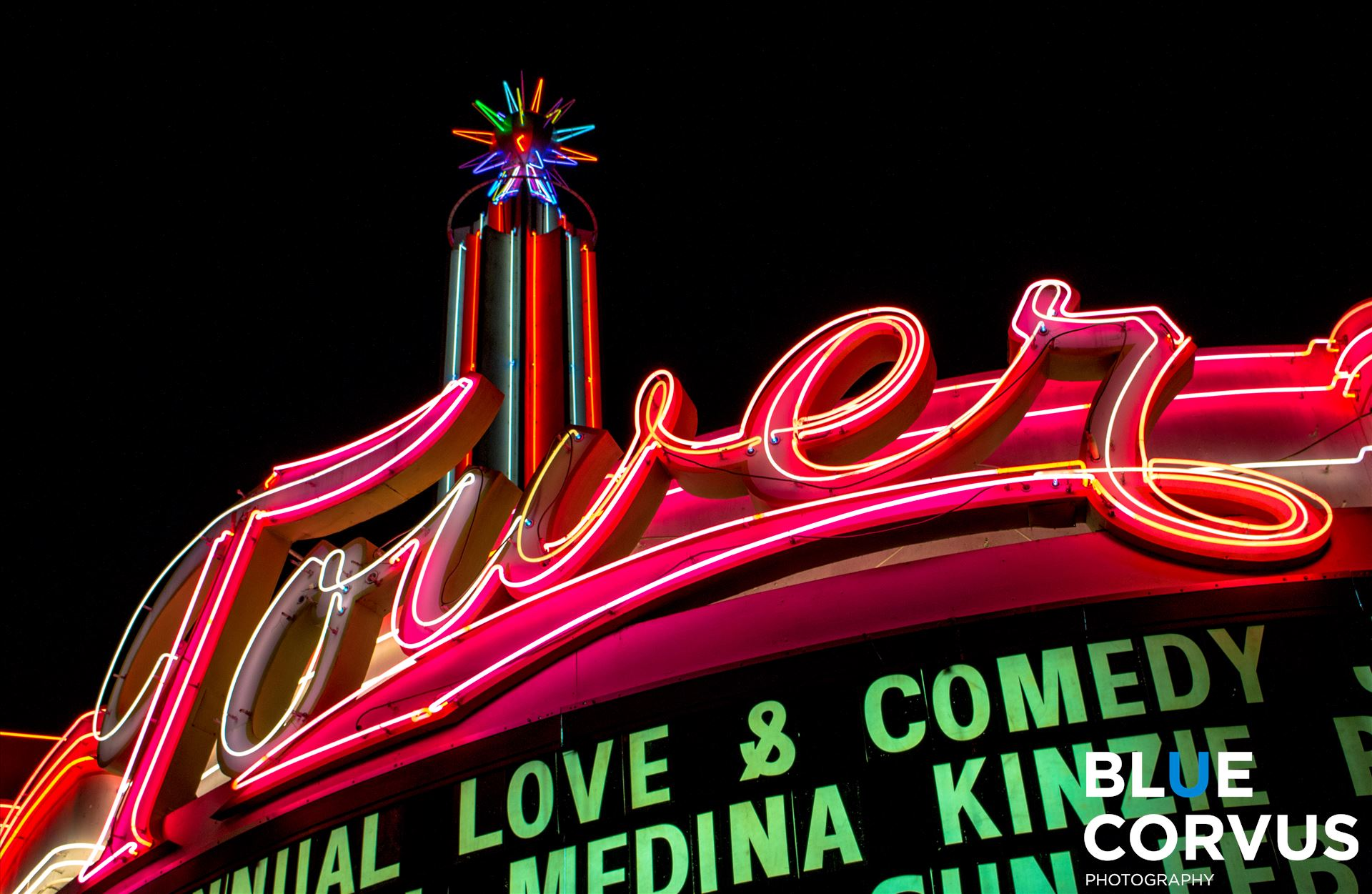 Tower Theater, Fresno, popular, neon - Historic Tower Theater by Eddie Zamora