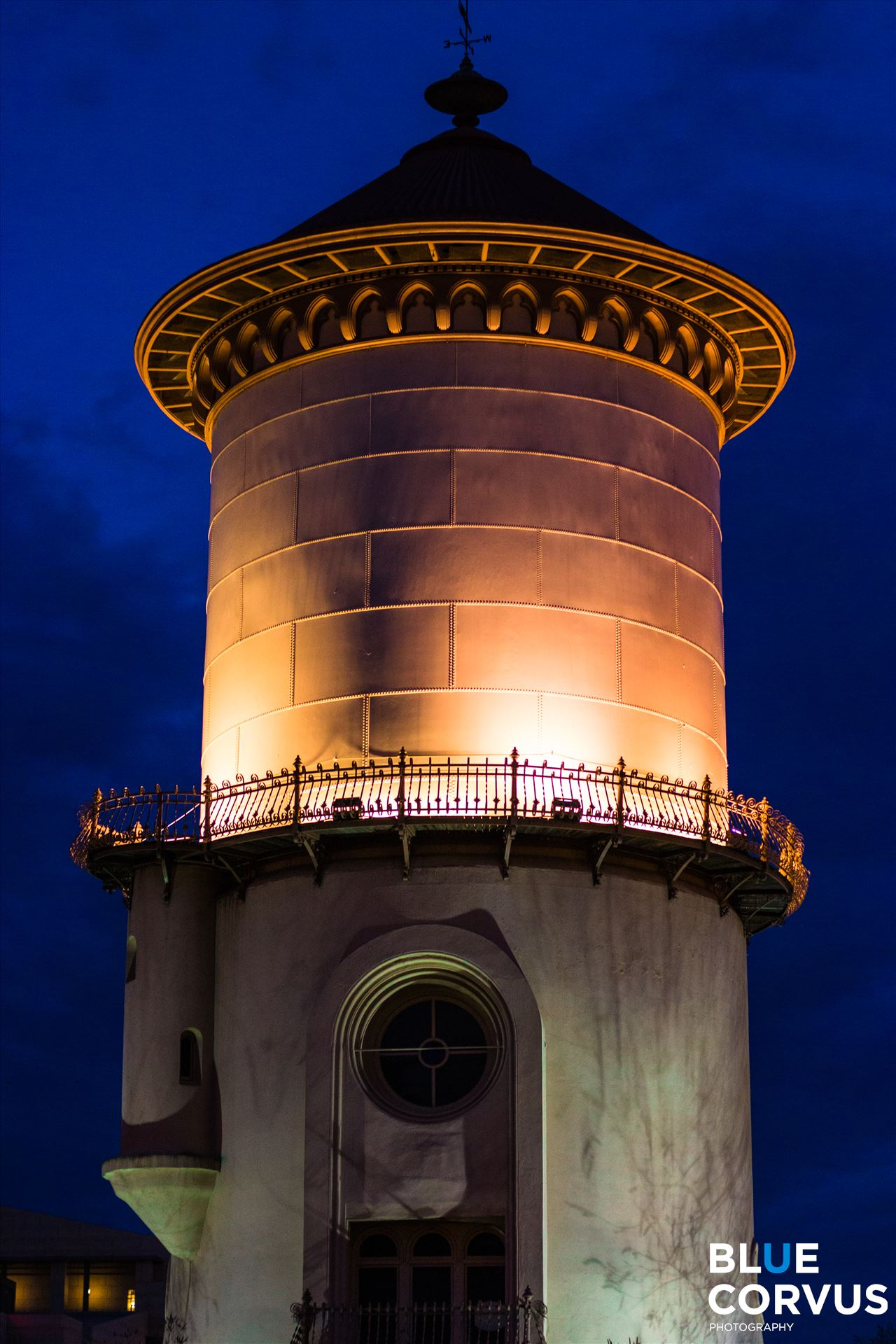 Blue Nights - Historic Fresno Water Tower by Eddie Zamora