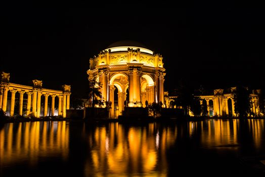 Location: The Palace of Fine Arts in San Francisco, California