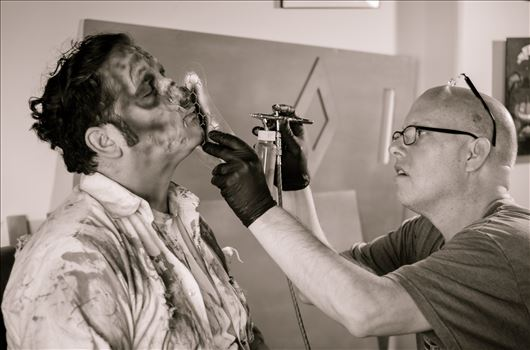 "Check out ""The Homicidal Home Maker"" on Facebook.  Mike Needham applying makeup to his subject.  A behind the scenes look at the show."